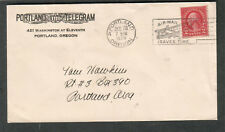 1929 cover Portland Telegram Washington at Eleventh in-city/air-mail saves time