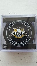 2017 PITTSBURGH PENGUINS 50th Official Game Puck 3 CUP PUCK  ***ERROR