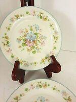 Noitake Melody Salad Plates Set of 4 Ivory China Japan Vintage