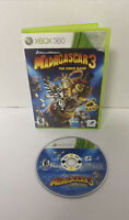 Madagascar 3: The Video Game (Microsoft Xbox 360, 2012) [No Manual] CLEANED TEST