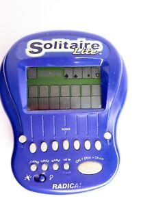 1997 Radica Big Screen Solitaire Lite Handheld Black Light Game Tested