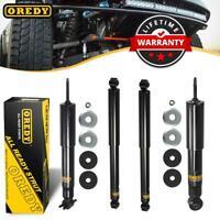 For Chevy Silverado 1500 GMC Sierra 99-07 RWD Front /& Rear Shocks Monroe Reflex