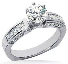 1 carat Round Diamond Engagement Wedding solitaire Ring 1.80 carat total