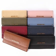 NWT Michael Kors HAYES Flat Leather Wallet In Various Colors