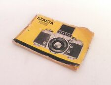Exakta VX 1000 Manual ::FREE UK POST:: #1883