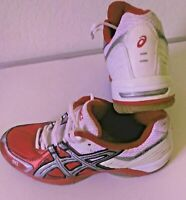 Asics Men's Shoes Gel-Rocket Athletic White Red  Lace Up BN853 Sz 8
