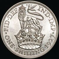 1927 | George V One Shilling 'Modified Effigy' | Silver | Coins | KM Coins