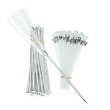 Athletic Field Markers - Pkg of 25 White 6 Inch Marking Whiskers With Stakes