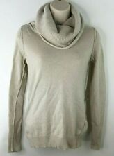 Banana Republic Pullover Sweater XS Cowl Neck Turtleneck Beige Wool Cashmere