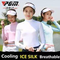 PGM Women Long Sleeve Golf Clubs Shirt Underwear Sunscreen Anti-UV Ice Silk Tops