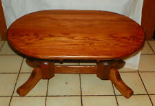 Solid Oak Oval Coffee Table Ct174