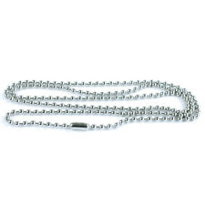 50 Pack Silver Ball Chain Dog Tag Necklace – 24 Inch Long 2.4mm Bead Size