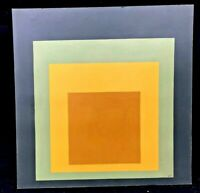 """Style  of """"  JOSEF ALBERS 1888–1976 """"  OIL PAINTING COMPOSITION ON BOARD signed"""