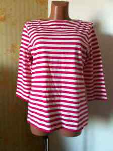 Marimekko ILMA woman's striped Shirt Top Size L