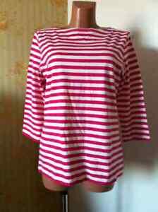 Marimekko ILMA woman's striped Shirt Top Size L