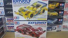 Tamiya 1/32 Mini 4WD exflowly Rojo Especial + rayvolf amarillo chasis de ma especial