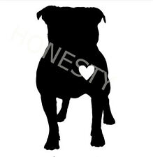 Funny Pitbull Heart Vinyl Decals car truck window adopt  cat dog Laptop sticker