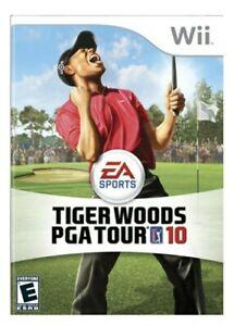 Tiger Woods PGA TOUR 10 (Nintendo Wii, 2009) Golf Fast Free Shipping