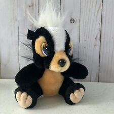"VINTAGE Walt Disney Parks Bambi Flower The Skunk 6"" Plush Stuffed Animal Toy"