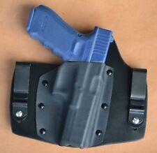 Leather Kydex hybrid IWB holster for Glock 30s