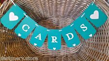CARDS Wedding/Engagement banner teal -Bunting sign/garland-Wishing Well