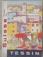 SUISSE TESSIN Affiche Couverture de U. ZACCHEO 21e Foire de Bâle Printemps 1937