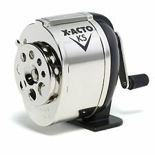 X-Acto Manual Pencil Sharpener KS 1031 Table or Wall Mount Steel Chrome NEW