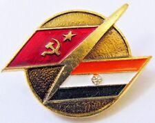 USSR-India Interkosmos Space Programs Original Metal Pin Badge