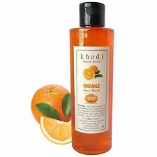 Khadi Natural Herbal Orange face wash, Anti pigmentation,deep cleansing,Radiance