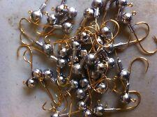 20 pcs 1/8oz JIGHEADS 2/0 st croix gold  Hooks
