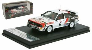 Trofeu RRUK21 Audi Quattro Winner Welsh Rally 1982 - Bjorn Waldegaard 1/43 Scale