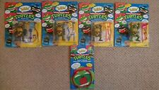 1991 Playmates rare Tmnt Talking Turtles unpunched complete set + quip strips