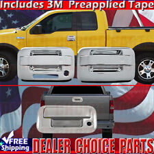 2004-2014 FORD F150 Chrome Door Handle COVERS (W/Keypad W/O PSK 2DR)+Tailgate