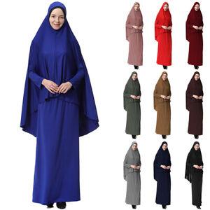 Frauen Hijab Gebetskleidung Schleier Kleid Muslimische Burka Khimar Islamische
