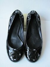 Tory Burch Women's  Black Leather Ballet Flat Shoes Size ?
