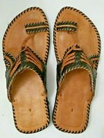 Moroccan Leather Handmade Sandals  Traditional Berber Tuareg Sahara Men size 9