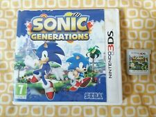 De Sonic Generaciones Nintendo 3DS Sega clásico o moderno Sonic * Play caso dañados *