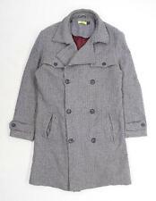Topman Mens Size M Wool Blend Grey Coat