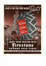"1944 Firestone Ground Grip Tractor Tires Farm Cowboy Metal Sign 9x12/"" A347"