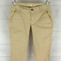 Old Navy Womens Size 0 Stretch Solid Beige Flat Front Skinny Chino Pants in EUC