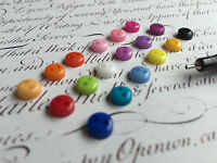 6mm 2 Hole Round Craft Micro Buttons Tiny Small Mini Plastic Dolls Sewing Crafts