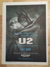 U2 hold me thrill me Batman 1995 press advert Full page 27 x 38 cm mini poster