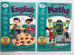 KS2 Maths & English Leap Ahead Home Learning Workbooks Set Ages 8-9 New Year 4