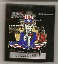 """Uncle Sam 9-11-01 """"Don't Mess with the Us"""" Pin"""