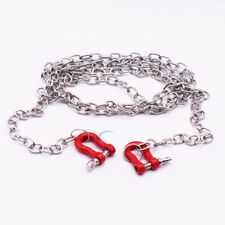 1/10 Scale METAL Chain With Shackles Long RC Car Crawler Truck Accessory Red
