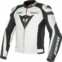 DAINESE SUPER SPEED-R LEATHER JACKET MOTORBIKE / MOTORCYCLE WHITE