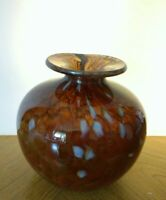 Kerry glass globe vase inspired by Michael Harris. Peat cloud c1980