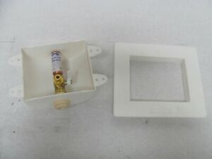 Mainline ML11449 - White icemaker box with water hammer, CPVC FPT connection