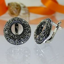 A012 Ohrringe Earrings 925 Silber Schmuck mit Swarovski Elements Kristallsteine