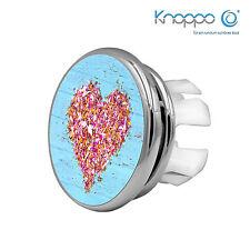 2er Set Waschbecken Überlauf Abdeckung, Design Blende - Mirror Heart Motiv